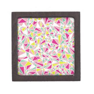 Modelo moderno del triángulo caja de recuerdo de calidad
