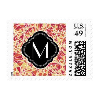 Modelo moderno del triángulo sellos postales