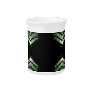 Modelo moderno del verde del negro de la cadera jarra para bebida