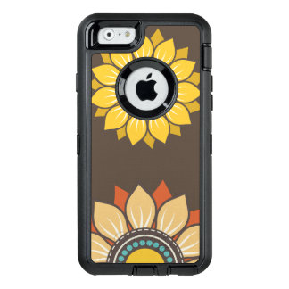 Modelo moderno floral caprichoso funda OtterBox defender para iPhone 6
