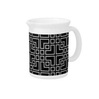 Modelo moderno geométrico gris negro jarras de beber
