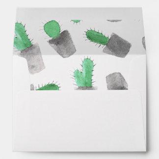 Modelo moderno gris verde del cactus de la sobres