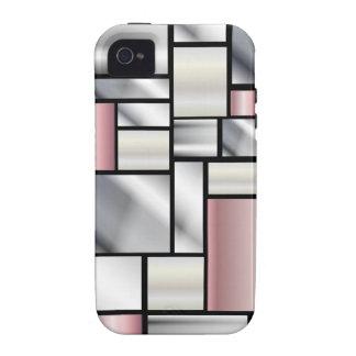 Modelo moderno IMPRESO del efecto de la luz tenue iPhone 4 Carcasas