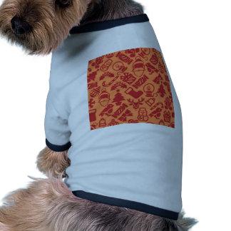 Modelo moderno inconsútil del fondo del navidad ropa para mascota