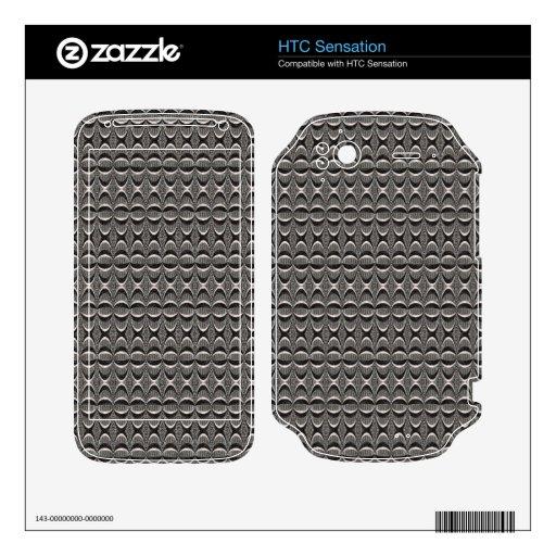 modelo moderno negro gris HTC sensation skins