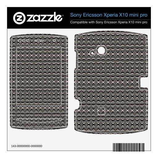 modelo moderno negro gris xperia x10 skins