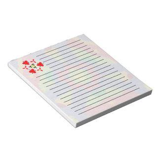 Modelo moderno peludo colorido blocs de notas