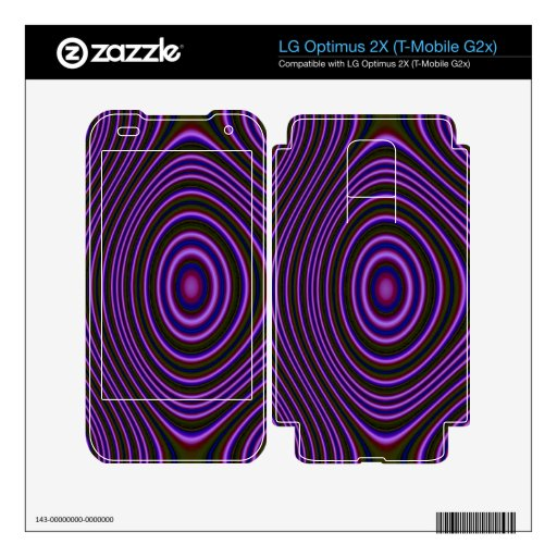 Modelo moderno púrpura colorido LG optimus 2X skin