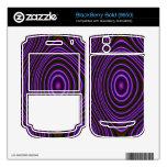 Modelo moderno púrpura colorido BlackBerry bold calcomanías
