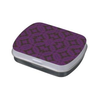 Modelo moderno púrpura oscuro jarrones de caramelos