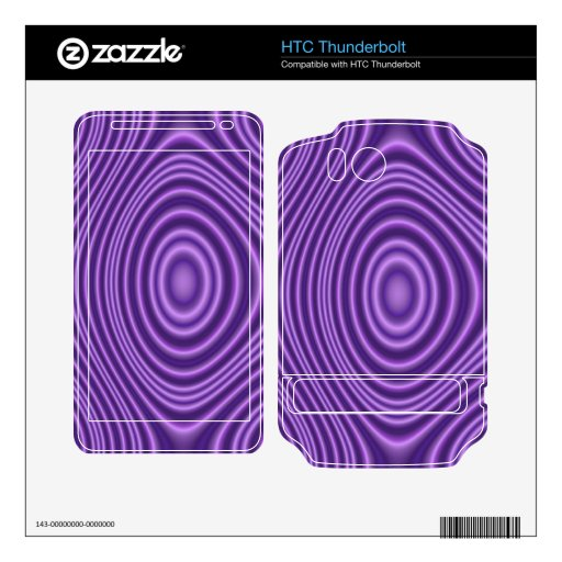 modelo moderno púrpura skins para HTC thunderbolt