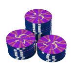 Modelo moderno púrpura y rosado fichas de póquer