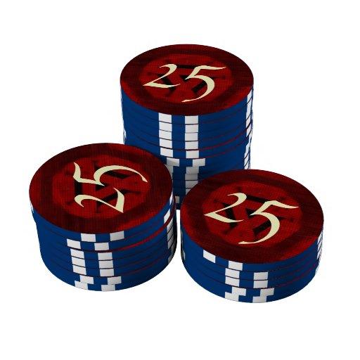Modelo moderno rojo fichas de póquer