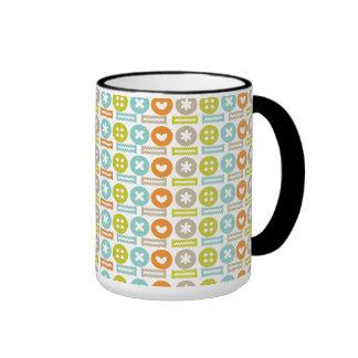 Modelo moderno y de moda del botón tazas de café