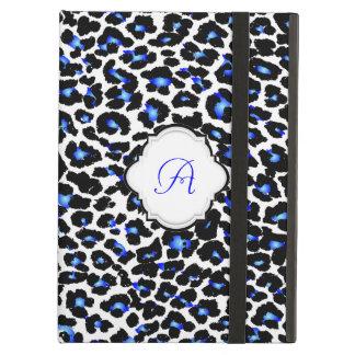 Modelo/monograma azules del leopardo de PixDezines