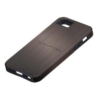Modelo-Monograma metálico oscuro de la mirada de iPhone 5 Coberturas