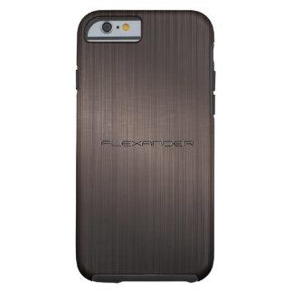 Modelo-Monograma metálico oscuro de la mirada de Funda De iPhone 6 Tough