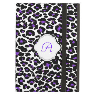 Modelo/monograma púrpuras del leopardo de