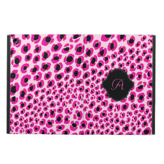 Modelo/monograma rosados del leopardo de