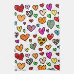 Modelo multi caprichoso del corazón del amor del d toalla