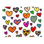 Modelo multi caprichoso del corazón del amor del d tarjetas postales