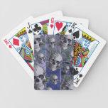 Modelo multi del cráneo del victorian azul baraja cartas de poker