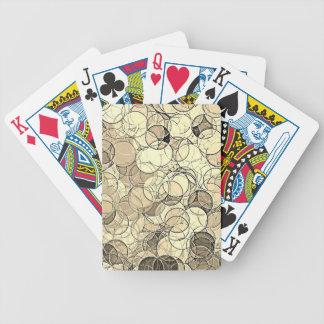 Modelo multi retro de los círculos coloreados cartas de juego