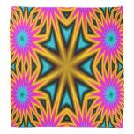 Modelo multicolor abstracto bandanas