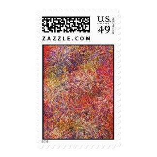 Modelo multicolor abstracto caótico sellos