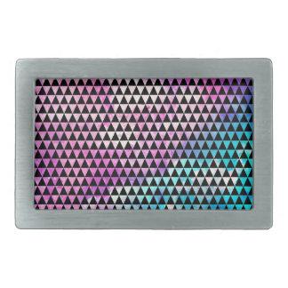 Modelo multicolor abstracto de los triángulos de hebilla de cinturon rectangular