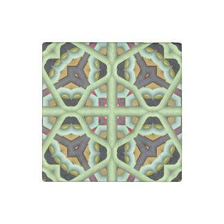 Modelo multicolor abstracto del caleidoscopio imán de piedra