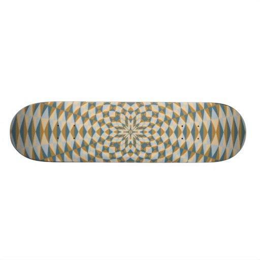 Modelo multicolor abstracto del círculo skateboards