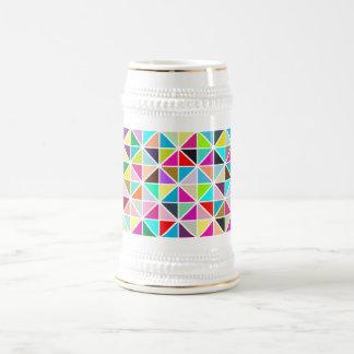 Modelo multicolor abstracto del diamante del jarra de cerveza