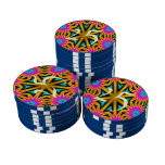 Modelo multicolor abstracto fichas de póquer