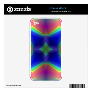 modelo multicolor abstracto iPhone 4 skin