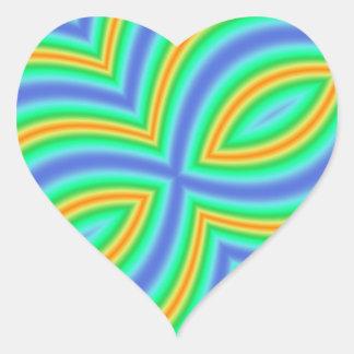 Modelo multicolor abstracto calcomania de corazon