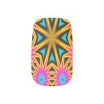 Modelo multicolor abstracto pegatina para uñas