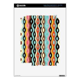 Modelo multicolor abstracto pegatinas skins para iPad 3