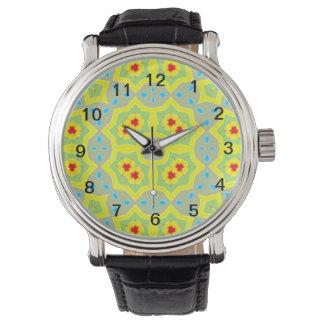 Modelo multicolor abstracto relojes de pulsera