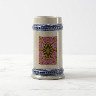 Modelo multicolor abstracto taza de café