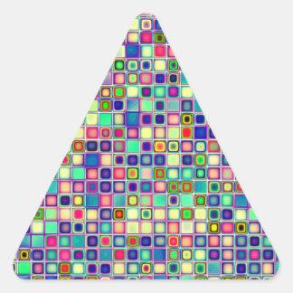 Modelo multicolor apenado de las tejas de las pas colcomanias triangulo personalizadas