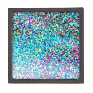 Modelo multicolor azul colorido del arte abstracto caja de joyas de calidad