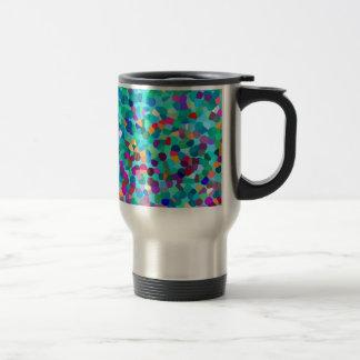 Modelo multicolor azul colorido del arte abstracto tazas