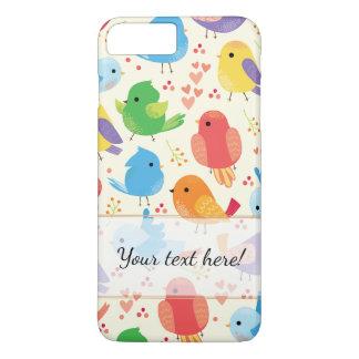 Modelo multicolor caprichoso de los pájaros funda iPhone 7 plus