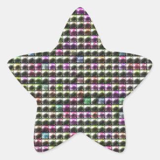 Modelo multicolor cuadrado moderno pegatina en forma de estrella