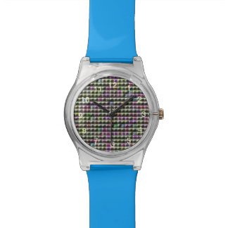 Modelo multicolor cuadrado moderno reloj de mano