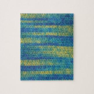 Modelo multicolor de la manta del ganchillo rompecabezas con fotos