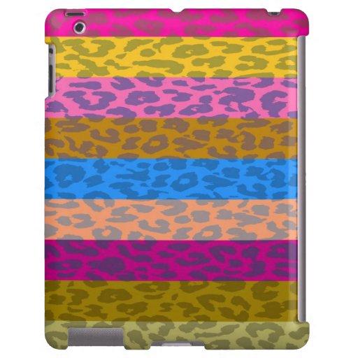 Modelo multicolor de la raya de la piel del leopar