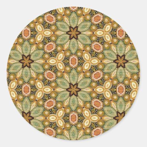 Modelo multicolor de la repetición pegatinas redondas