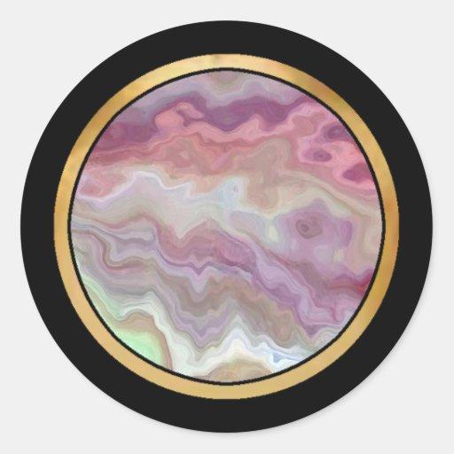 Modelo multicolor de la repetición etiqueta redonda